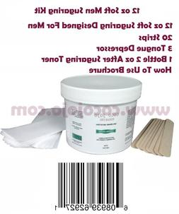 12 Oz Sugaring Hair Removal Kit for Men for All Body Parts +