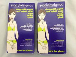 2Boxes Completely Bare Hair Removal Hypo-allergenic Wax Stri