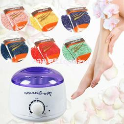 Hair Removal Hot Wax Electric Warmer Waxing Kit+300g Hard Wa