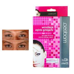 40 Eyebrow Shaping Strips Mini Wax Hair Removal Shapers Face