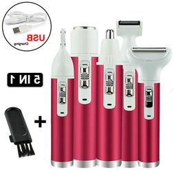 5 in1 Lady Electric Hair Trimmer Epilator Body Facial Hair R