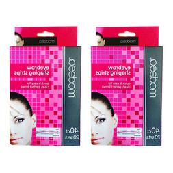80 Ct Eyebrow Shaping Strips Hair Removal Shape Smooth Brows