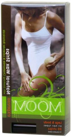 Moom Express Pre Waxed Strips For Legs & Body, 20 Strips Pac