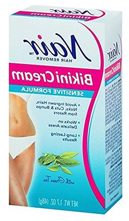 Nair Hair Remover Bikini Cream With Green Tea Sensitive Form