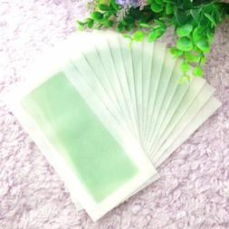 Body Hair Depilatory Wax Strips Removal 10Sides Leg Papers W