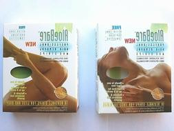 Aloe Bare for FACE / LEG & BODY Hair Removal Wax Strips  --