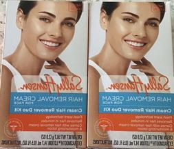 Sally Hansen Hair Removal Cream For Face Duo Kit 2 Kits New