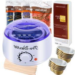 Hair Removal Hot Electric Waxing Kit +400g Hard Wax beans &