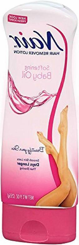 Nair HAIR REMOVAL Lotion - Softening Baby Oil, 9 oz