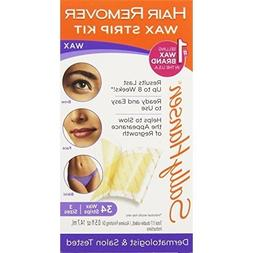 Sally Hansen Hair Remover Wax Strip Kit for Face, Brows & Bi