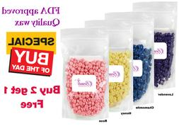Hard Wax Beads Beans Pallets No Strip Depilatory 4 Hair Remo