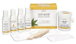 GiGi Hemp Wax at-Home Hair Waxing Kit for Safe, Fast and Eff