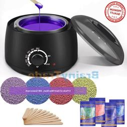 Hot Wax Warmer Hair Removal Waxing Kit Electric + 4 Bags Har