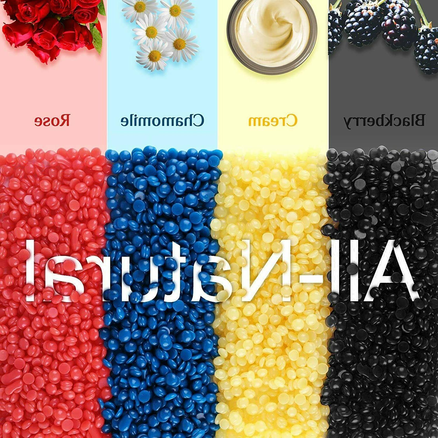200g Hard Wax Beans for Painless Body Removal Waxing Natural Beads