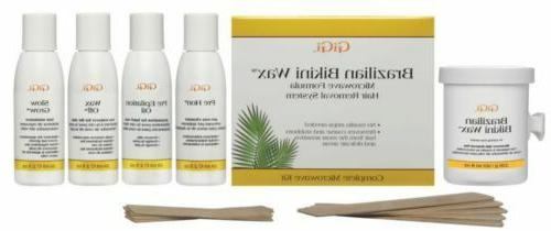 GiGi Brazilian Waxing Microwave Formula Kit - No Strips Need