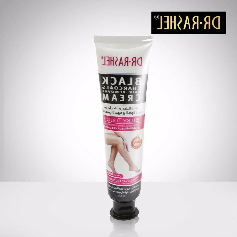 Dr Rashel Black Charcoal Hair Removal Cream Legs Underarms Pikini Line