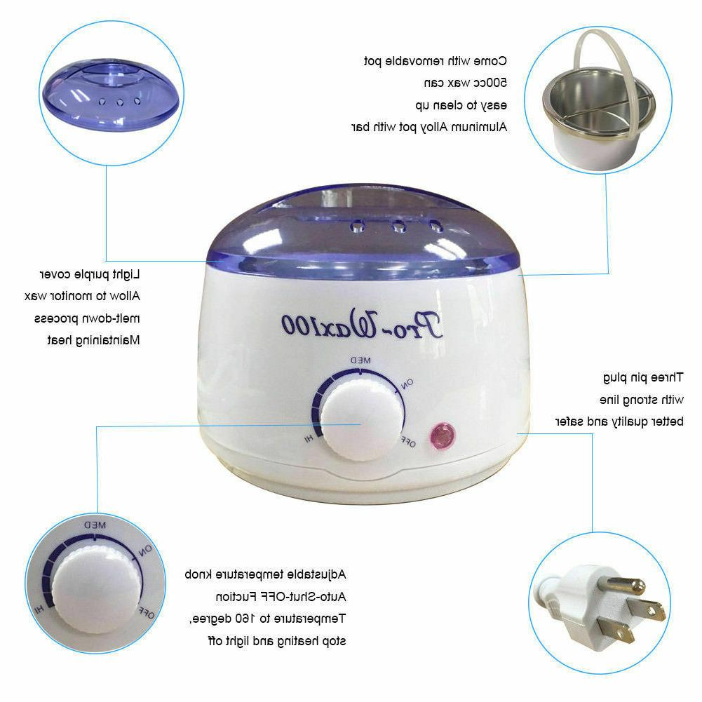 Hot Removal Kit Electric + 400g Hard Wax beans &
