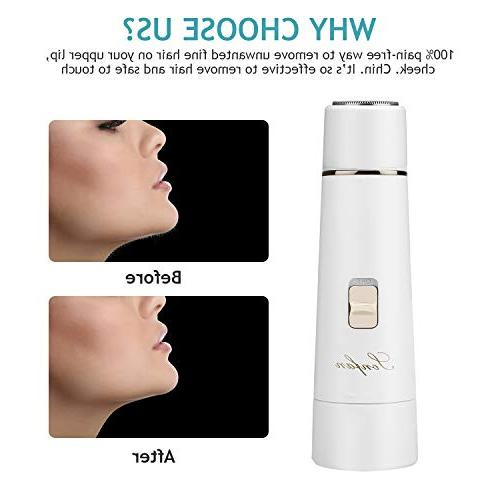 Facial Women USB Waterproof Hair Remover Trimmer Armpit, Chin and Full Body, for Women
