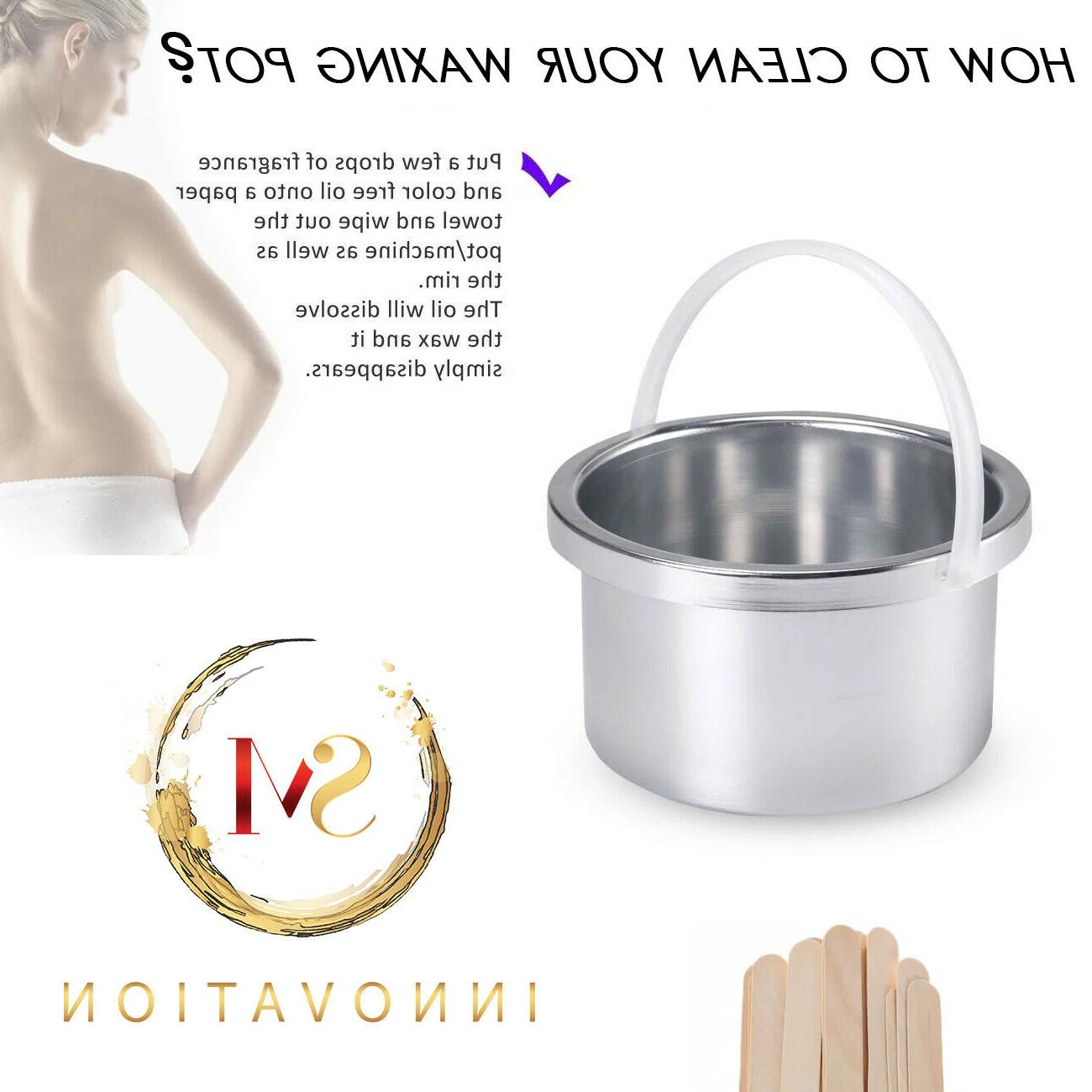 Hair Removal Electric Warmer Waxing + Wax beans &