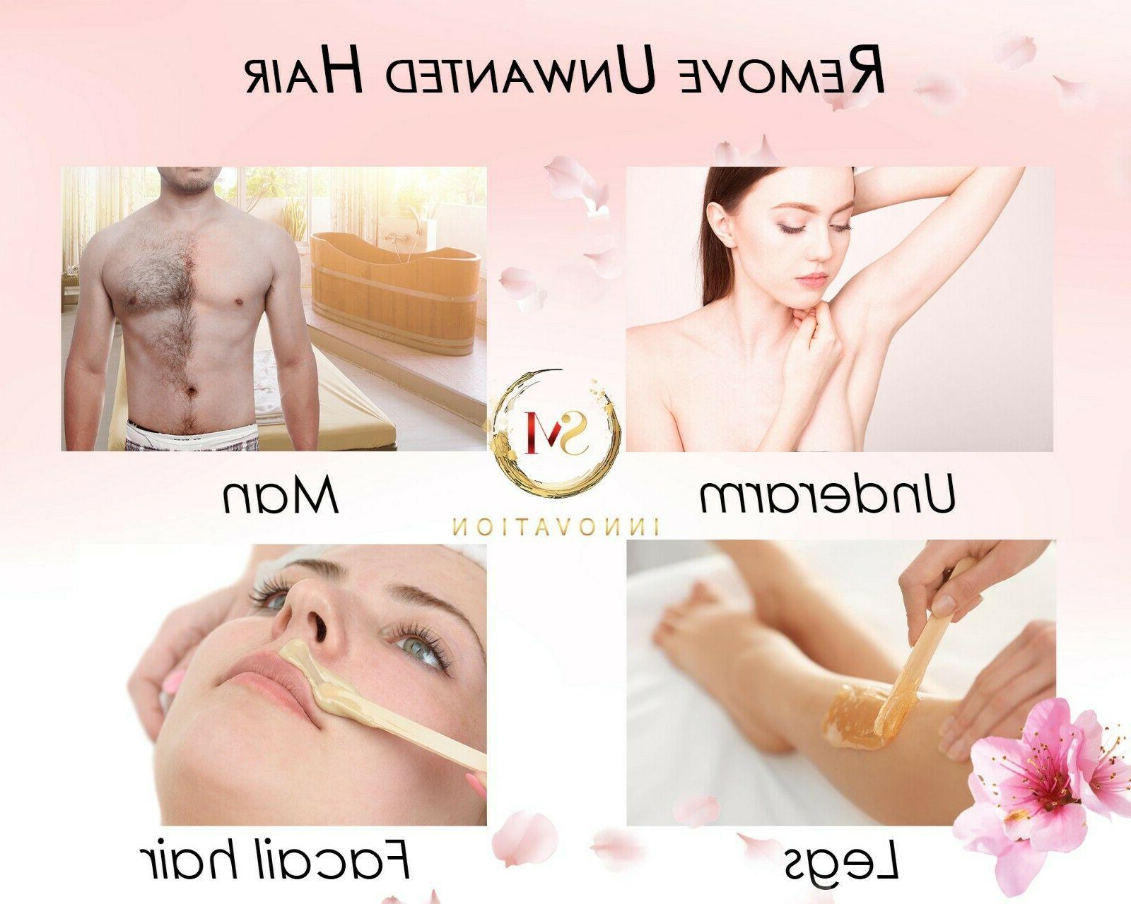 Hair Removal Electric + Wax beans 10