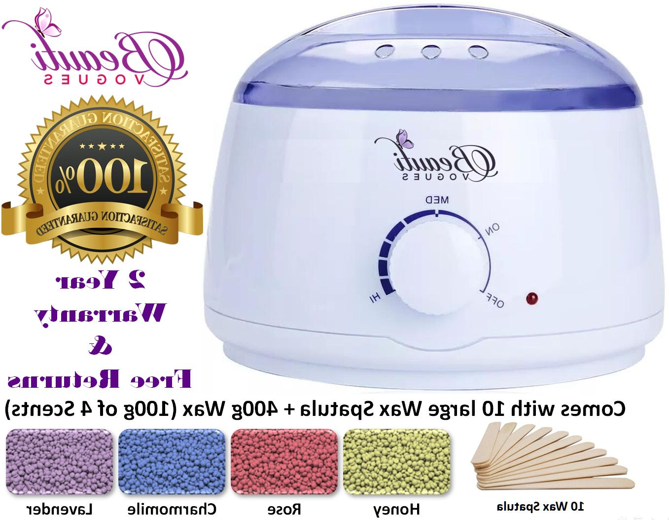 Hair Removal Hot Wax Electric Warmer Waxing Kit
