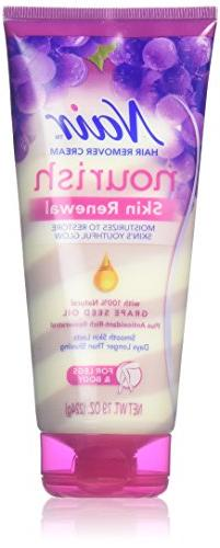Nair Hair Remover Cream NOURISH SKIN RENEWAL for FACE Long-L
