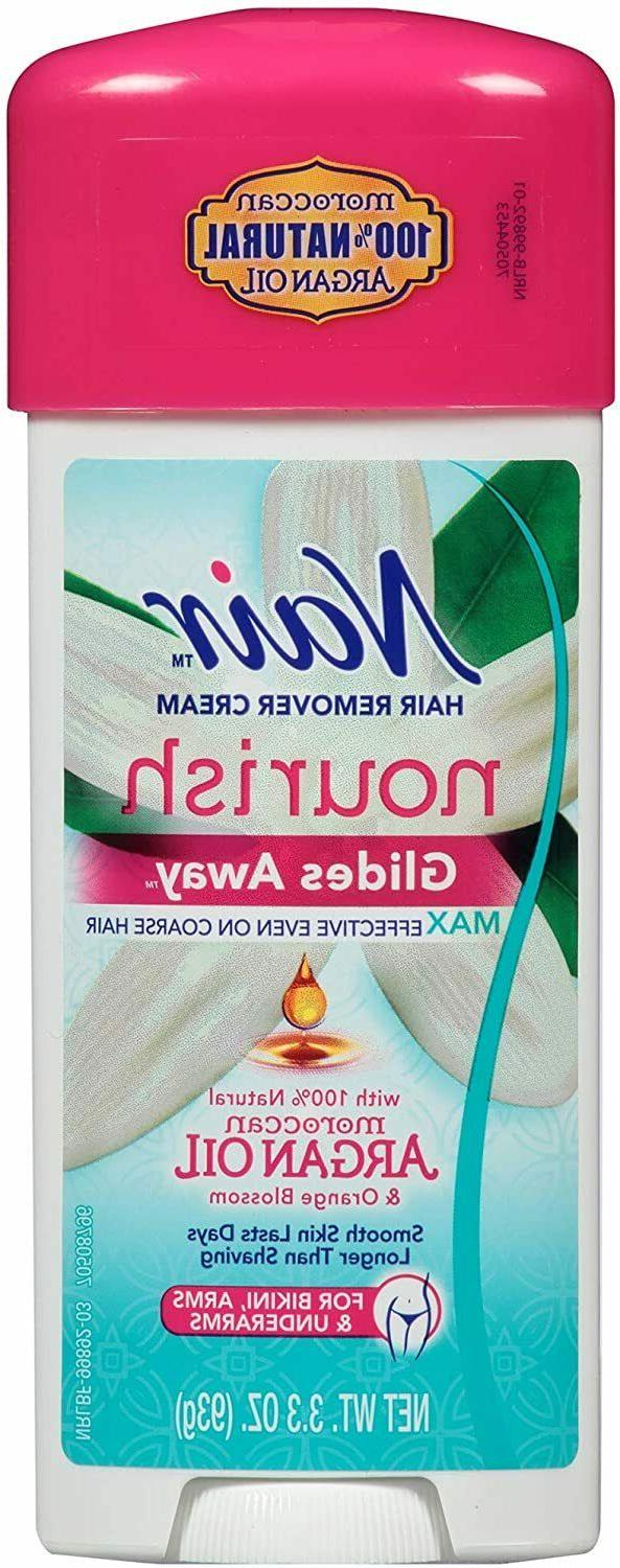 Nair Hair Remover Glides Away Hair Removal Cream 3.3 oz
