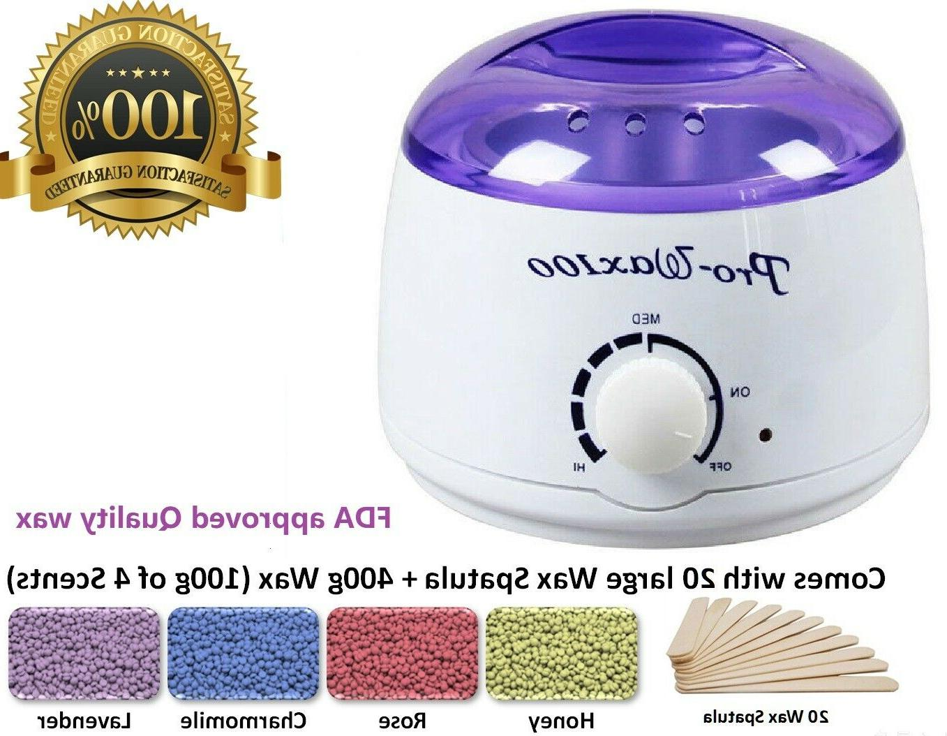 Hot Wax Warmer Hair Removal Waxing Kit Electric