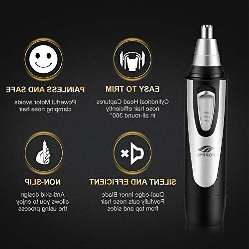 Nose Hair Professional Hair Trimmer Clipper, Stainless Steel Battery-Operated, All Hair Remover Set