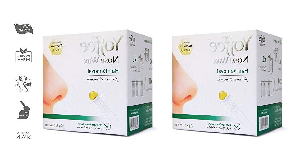 nose wax hair removal with natural beeswax