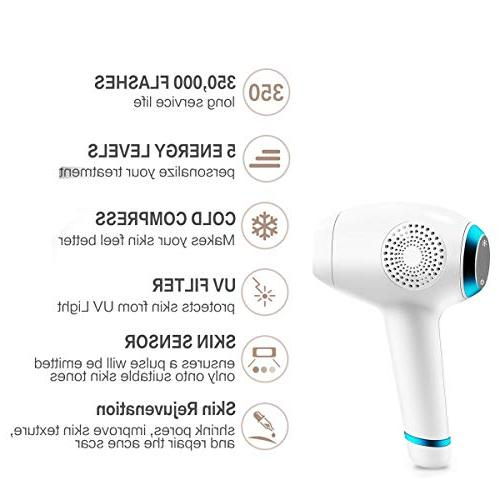 Permanent Hair Removal Women Painless WPL ICE Cool Integrated 350,000 Flashes Touch