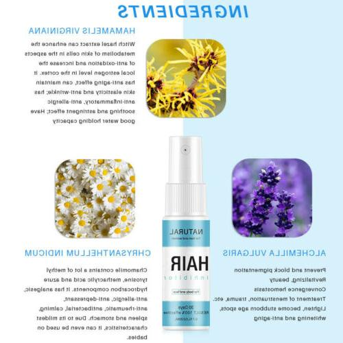 NEW Natural Permanent Hair Spray Hair Inhibitor Remover