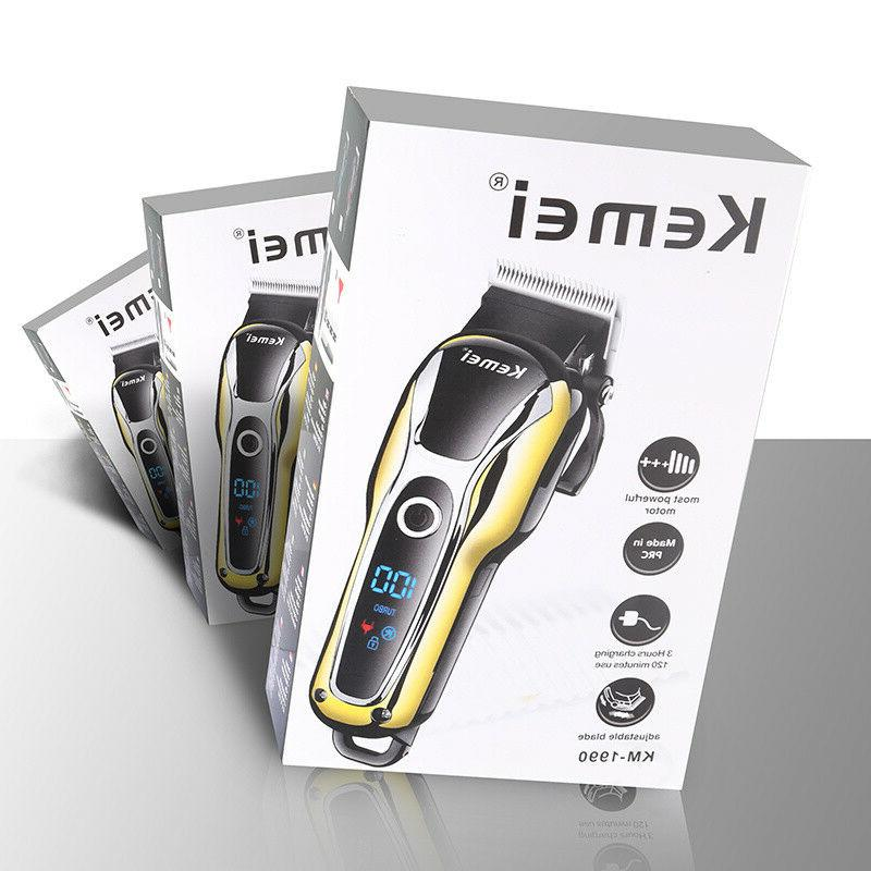 Rechargeable Hair Clipper Shaver LCD Hair