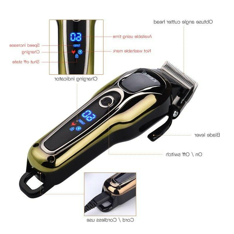 Rechargeable Shaver LCD Hair Removal Trimmer