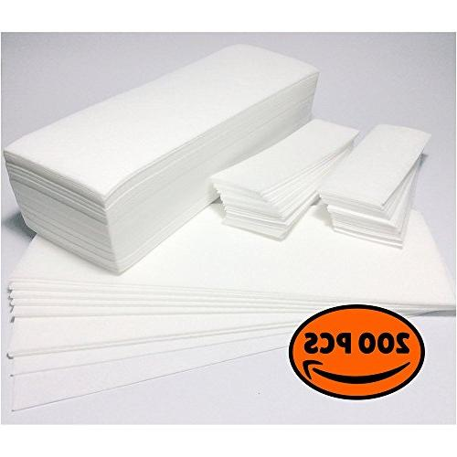 New Salon Quality Non-Woven Wax Strips Facial Full Sizes 200 Strips