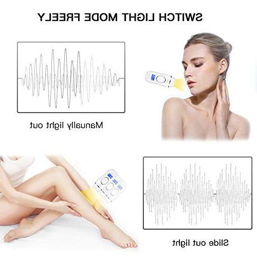 U-Kiss IPL Hair System, 400,000 Painless with LCD Display, 5 Settings Body,