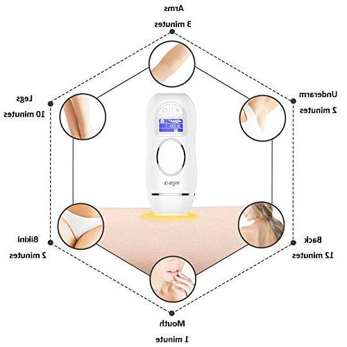 U-Kiss Hair System, 400,000 Permanent Painless Removal with Settings Body,