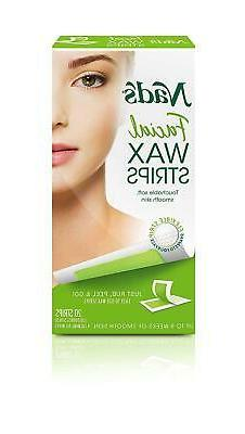 Wax Strips Hypoallergenic All Skin Types Facial Hair Removal