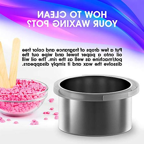 Wax Hair Removal Natural Hard Beans Wax Machine Painless Rapid Self Spa Kit Electric Heater Women Men Body Face