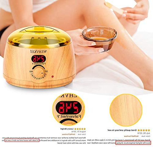 Wax Hair LCD Display and Temperature Control Self Home Waxing for Men, Body,Armpit,Bikini,Eyebrow,Face