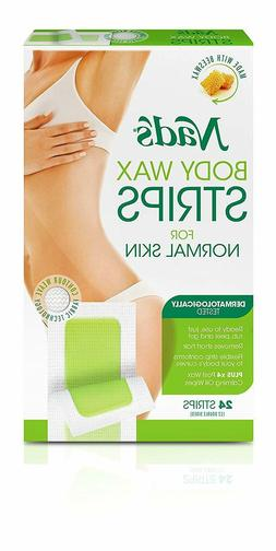 Nads Large Body Wax Strip Size 24ct Nads Large Body Wax Hair