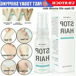 NEW 100% Natural Permanent Hair Removal Spray Stop Hair Grow