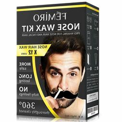 Nose Hair Facial Hair Removal Wax Kit Home Cream For Men Wom