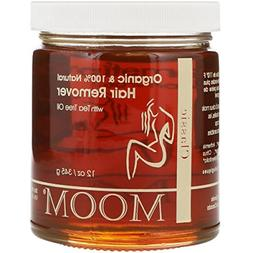 Moom Organic Hair Removal with Tea Tree Refill Jar 12 oz- Pa