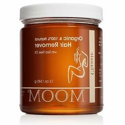 MOOM Organic Flawless Hair Remover Waxing Refill W/Tea Tree
