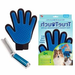 True Touch Pet Deshedding Glove Dog Cat Hair Removal As Seen