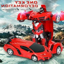 1:18 Transformer RC Robot Car Remote Control 2 IN1 Toy Kids