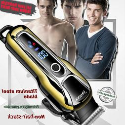 Rechargeable Hair Clipper Men's Shaver Electric LCD Razor Ha