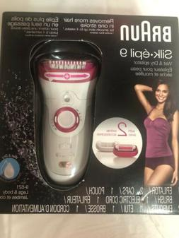 Braun Silk-épil 9 9-521 Women's Epilator, Electric Hair Rem