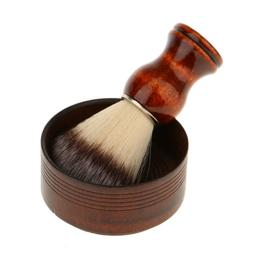 Soft Bristle Hair Remove Shaving Brush Natural Wood Soap Mug